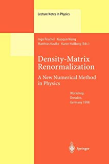 Density-Matrix Renormalization - A New Numerical Method in Physics (Lecture Notes in Physics (528))