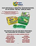 Super Wonder Wafers 144 CT Individually Wrapped Air Fresheners CLEAN CAR