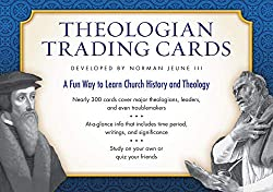 father's day gift guide for nerdy theology geek Christian Dads baseball card style theologians through church history trading cards set of 288 important church theologians