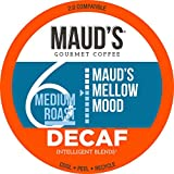 Maud's Decaf Medium Dark Roast Coffee (Mellow Mood), 100ct. Solar Energy Produced Recyclable Single Serve Decaf Medium Dark Roast Coffee Pods – 100% Arabica Coffee California Roasted, KCup Compatible