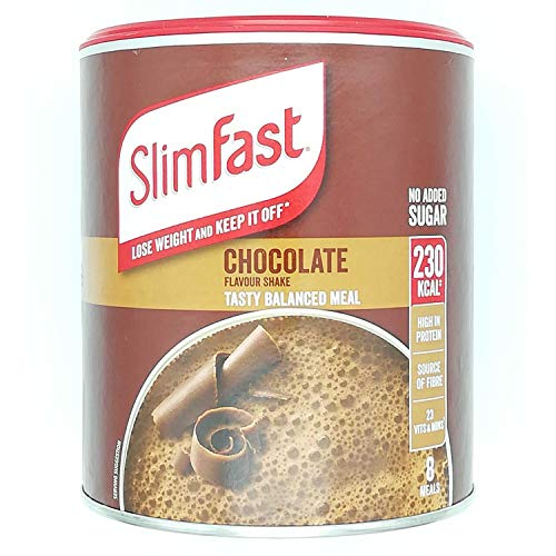 Slimfast Chocolate 300g, Meal Shake Chocolate Flavour, Can Help You Lose Weight and Keep it Off, Source of Fibre, You can Shake-up in Seconds, Pack of 4