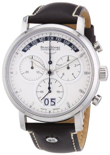 Bruno Söhnle Herren-Armbanduhr XL Marcato Chronograph Quarz Leder 17-13143-241
