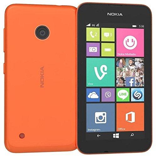 Nokia Lumia 530 Smartphone (10,2 cm (4 Zoll), 1,2GHz Snapdragon Quad-Core Prozessor, 512MB RAM, 5 Megapixel Kamera, Bluetooth, USB 2.0, Win 8) Orange
