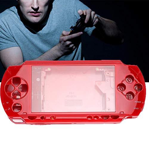 Fdit Game Shell für PSP 1000, Ersatz-Vollgehäuse-Konsole Game Shell-Gehäuseabdeckung, PSP 1000-Konsolen-Host-Shell, PSP 1000-Ersatzteile(red)