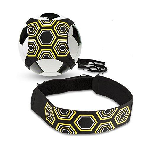 BizoeRade Solo Fußball Kicker Trainer, Soccer Trainer mit verstellbarem Taillengürtel, Aid Control Skills Soccer Practice Training für Kinder Anfänger Kick Off Trainer