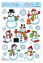 Christmas Sticker Snowman / Snowflake Clings