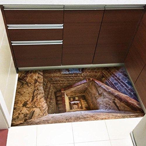 Winkey 1Rolle Abnehmbare 3d Boden Aufkleber Aufkleber Wandbild Wohnzimmer Home Decor, C, 60*120cm