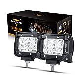 Auxbeam LED Light Bar 4 inch LED Pods 18W Driving Light 2Pcs 3W...