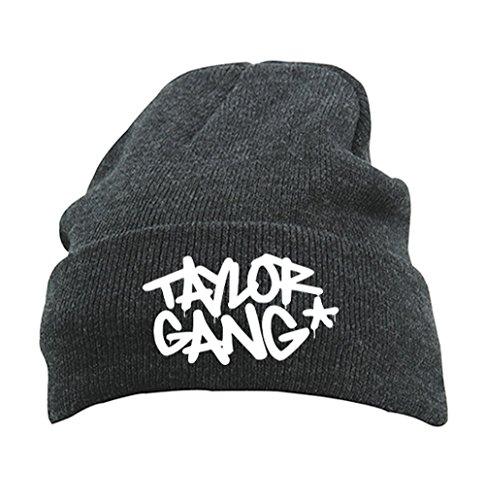 TRVPPY Herren Strickmütze Mütze Beanie mit Thinsulate, Modell Taylor Gang Stars Wiz Khalifa, Dunkelgrau