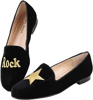 Gatsby Rockstar Black Velvet Loafer Flat