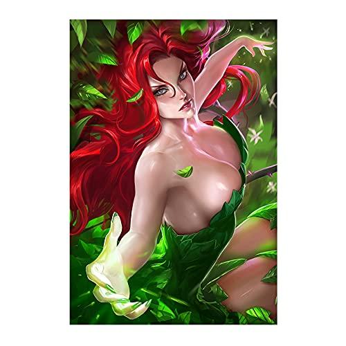 qingqingzijin Imprimir Harman Musashi Pokemon 3D Sexy Anime Girl Art Poster Lienzo Pintura para decoración de Sala de Estar PictureA874 50 × 70CM sin Marco