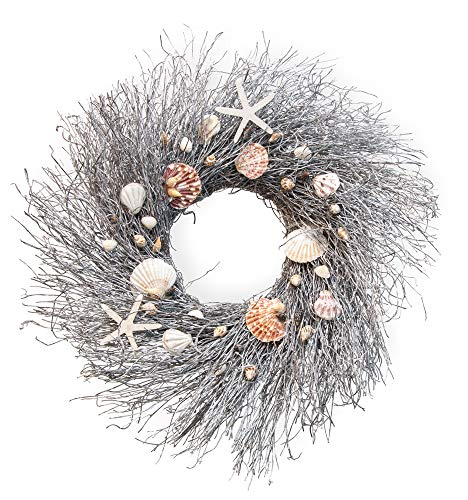 Boston International Decorative Front Door/Wall Wreath, 23-Inches, Down by The Sea