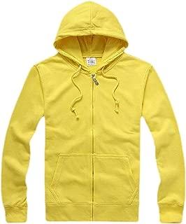 Mens Slim Fit Long Sleeve Lightweight Zip-up Hoodie Sweatshirt with Kanga Pocket