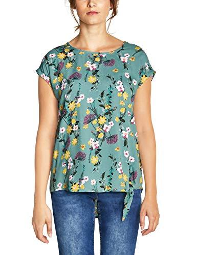 CECIL Damen 341571 Talea Bluse, Mehrfarbig (sage green 31893), Medium (Herstellergröße:M)
