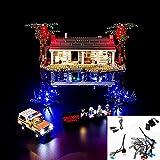 LOO LA Conjunto de Luces para Lego 75810, Kit de iluminación LED Compatible con (Las Cosas más extrañas, el Modelo de construcción al revés) Modelo de Bloques de construcción (no Incluye Modelo)