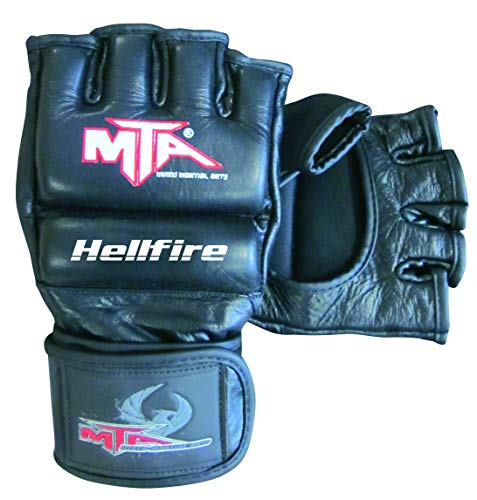 Montana Hellfire Gants MMA Cuir - Taille XL Mixte Adulte, Noir