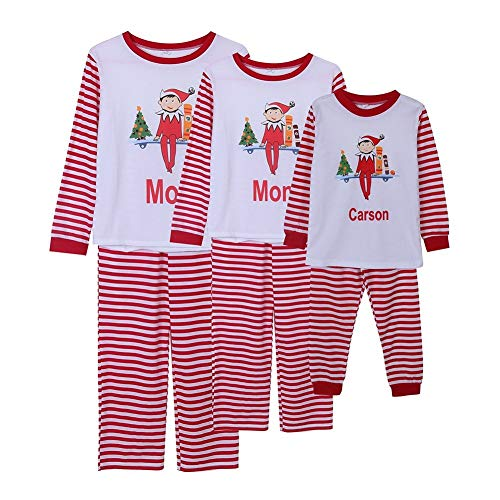 Adelina ouders kind Kerstmis 2 sets passende familie pyjama's Homewear strepen Fashionable Completi Kerstmis outfits voor papa mama kind