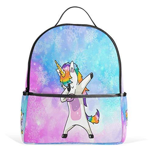 Laptop Backpacks for Men Women,High School Bookbag Bag,Travel Daypack,Unisex Rucksack Unicorn Galaxy Starry