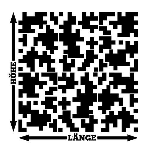 HR-WERBEDESIGN Pixel Cyber Camouflage XXL Set Auto Aufkleber Sticker Tuning Stylin Wandtattoo x