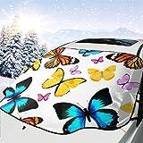 Motivo con farfalle colorate naturali per auto, neve, gelo, sole, parasole, impermeabile, inverno, estate, per auto, camion, furgoni e SUV, personalizzati