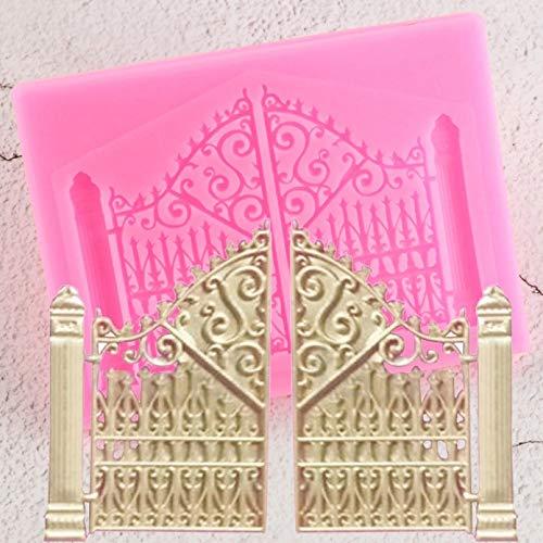 Fewear Molde de silicona para puerta, para decoración de tartas, chocolate, accesorios para hornear