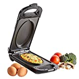 VonShef Omelette Maker - Compact, Portable 700W Electric Single Egg Cooker & Pan with Non Stick, Easy Clean Grill Plate & Automatic Temperature Control for Fried, Scrambled Eggs, Paninis & Pancakes