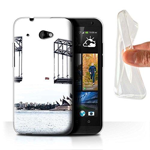 Custodia/Cover/Caso/Cassa Gel/TPU/Prottetiva STUFF4 stampata con il disegno Giù Sotto per HTC Desire 601 LTE - Viaggio Su Strada