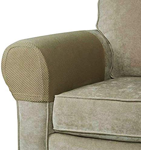 SET OF 2 STRETCH SOFA CHAIR ARMREST COVERS NON-SLIP SLIPCOVER FOR MOST SOFA ARMS