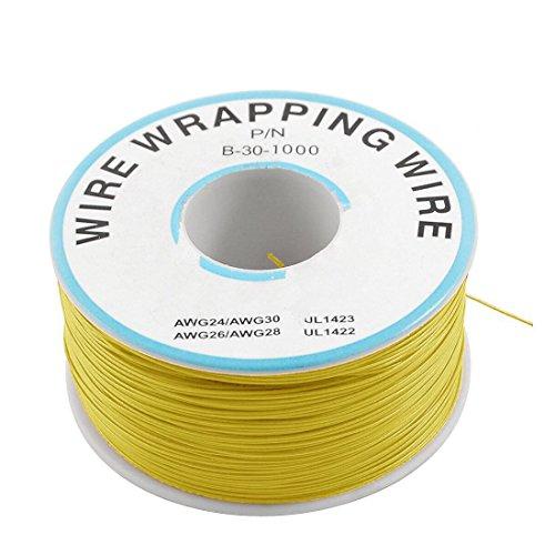 Saim, filo in rame stagnato P/N B-30-1000 30AWG, per rielaborazione circuiti stampati, 200 m, giallo, A00048