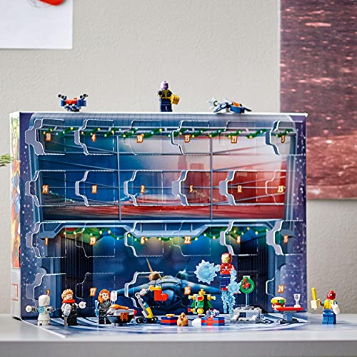 LEGO 76196 Marvel The Avengers Advent Calendar 2021 Buildable Toys with Spider-Man and Iron Man for Kids Aged 7 Idea