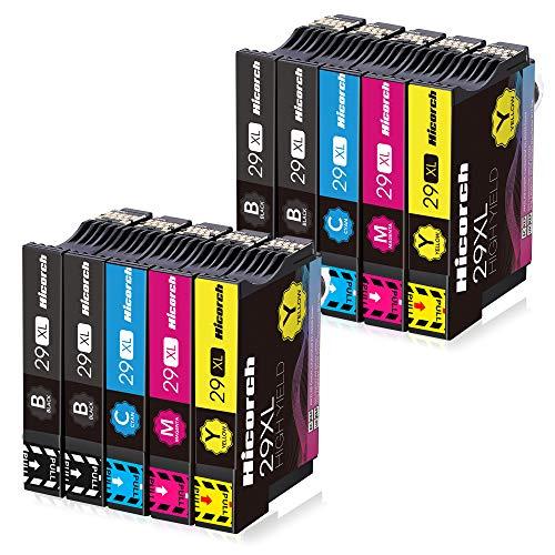 Hicorch 29XL Cartuchos de Tinta para Epson 29 XL Compatible con Epson Expression Home XP-235 XP-245 XP-247 XP-255 XP-342 XP-332 XP-335 XP-345 XP-432 XP-435 XP-442(4 Negro,2 Cian,2 Magenta,2 Amarillo)
