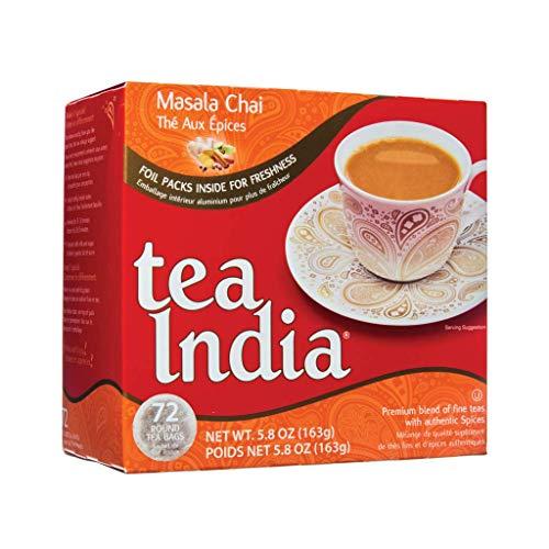 Tea India Masala Chai Tea, 72 Tagless Tea Bags (5.8-Oz / 160 g)