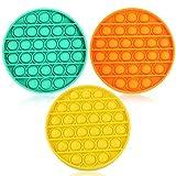YFOX Giocattoli di decompressione: Tre Pezzi di Giocattoli per Le Dita in Silicone Arancione, Giallo e Verde Che Possono alleviare i Giocattoli Che calmano l'ansia