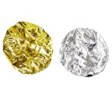 Juvale 12-Pack Tin Foil Natural Heat Shower Cap for Deep Conditioning, Gold and Silver...