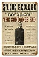 なまけ者雑貨屋 Sundance Kid メタルプレート アンティーク な ブリキ の 看板、レトロなヴィンテージ 金属ポスター