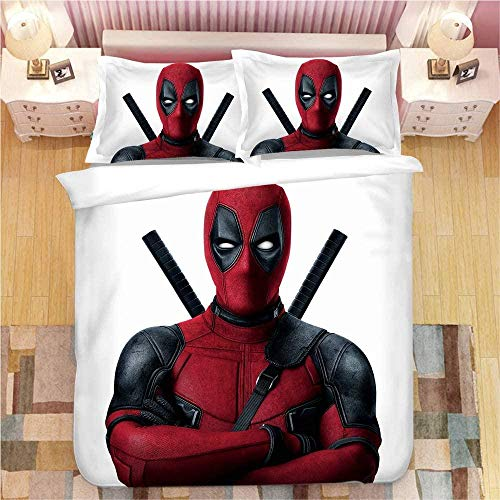 Bcooseso Bedding Set Double Bed Set 3Piece, 3D Modern science fiction movie characters Duvet Cover Set Single size Microfiber Polyester Print Zip Easy Care(135 x 200 cm )