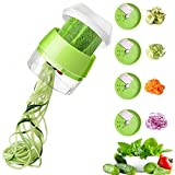 TangTag Handheld Spiralizer Vegetable Slicer, 4 in 1 Spiralizer Vegetables, Zucchini Spaghetti