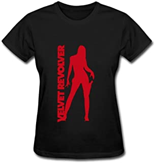Kittyer Women's Velvet Revolver Design Cotton T Shirt XXL