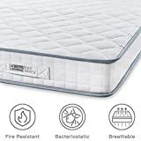 BedStory <span class='highlight'>Mattress</span>, Single <span class='highlight'>Mattress</span> 3ft Sleeping <span class='highlight'>Sprung</span> <span class='highlight'>Mattress</span> 2.15mm Medium Firm Bonnell Spring <span class='highlight'>Mattress</span> with Breathable Fabric Fire Resistant Barrier Skin-friendly Durable for Bedroom