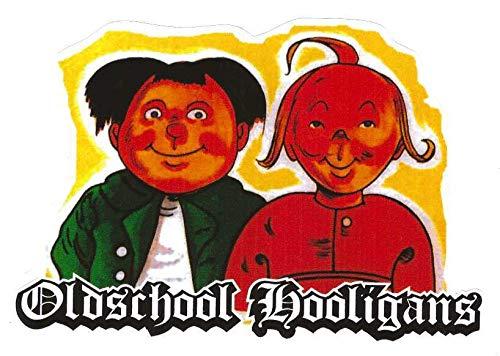 Oldschool Hooligans Aufkleber Sticker JDM Fun Cool Autoaufkleber ca. 11x8 cm Retro Vintage Moped DDR