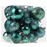Christmas Ornaments for Xmas Trees,Green Shatterproof Christmas Ball Ornaments of 32 pcs