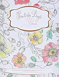painterly days a watercolor coloring book for adults
