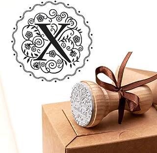Timbro Lettera X Iniziali Timbri Lettere Alfabeto Monogramma X Idee Regalo Aziendale