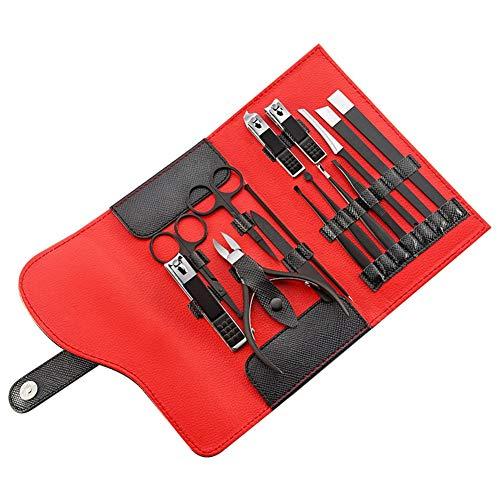 15 pcs Nail Clipper Portable Cutter Tondeuse Oreille Pick Kit De Toilettage Manucure Set Pédicure Orteil Nail Art Outils 10 pcs en acier inoxydable