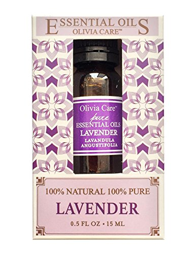 Olivia Care LAVENDER Essential Oil - For Aromatherapy relaxation, Skincare, Baths, Massage, Muscle Pain -Perfect for Stress Relief- 100% All Natural and Pure Oil