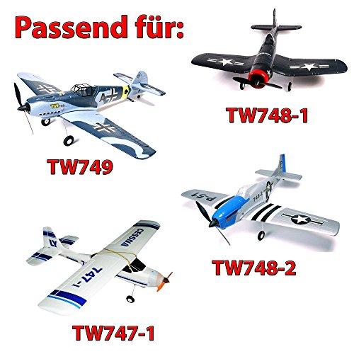 HSP Himoto 3 x original Propeller für RC Flugzeug Lanyu TW747 Cessna, TW748-1 F4U Corsair,TW749 Messerschmitt ME109, TW748-2, Ersatzteil, Neu