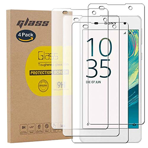 pinlu [4 Pack Protector de Pantalla de Cristal para Sony Xperia E5...