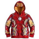 Elakaka Spiderman Hoodies,Superhero Iron Man Hulk Captain America Sweatshirt for Boys, Ironman, 6 Years