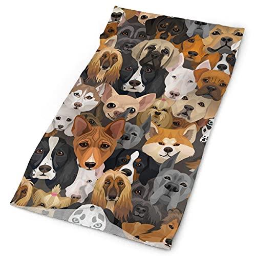 Pañuelo Bulldog, Spaniel y Husky Pañuelo para la cabeza Moda para la cabeza Bandanas Diadema multifuncional Polvos faciales para protección UV al aire libre Bufanda mágica para pescar