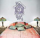 zhuziji Märchen Kuckucksuhr Uhr Wand Vinyl Wandaufkleber für Kinder Schlafzimmer Wandbild romantische Baby Kinderzimmer Wandtattoo Moderne Poster 84x130cm